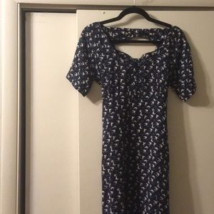French patterned dress